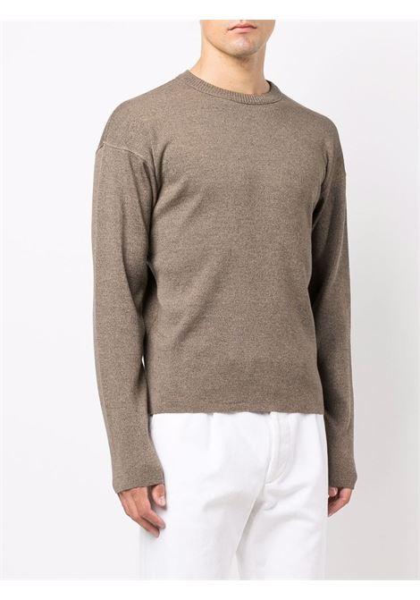 crewneck sweater man gray LEMAIRE   Sweaters   M 213 KN320 LK087.130