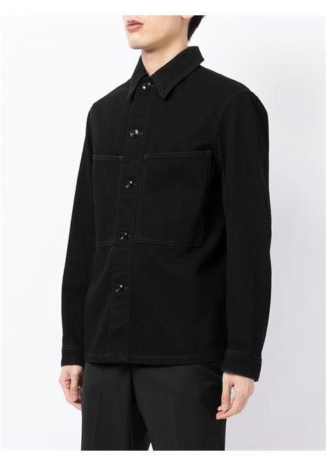 camicia denim uomo nero in cotone LEMAIRE | Camicie | M 213 OW191 LD069999