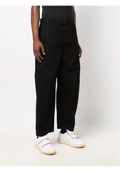 pantaloni con cintura uomo neri in cotone LEMAIRE | Pantaloni | M 213 PA137 LD069999