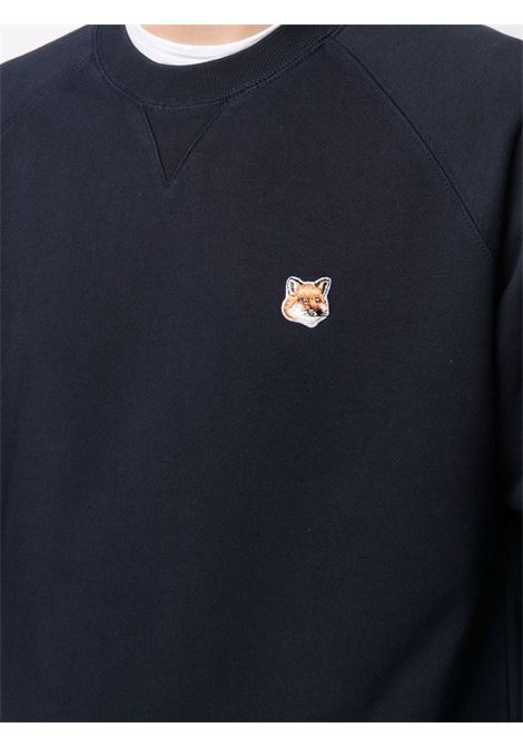 ogo sweatshirt man blue in cotton MAISON KITSUNÉ | Sweatshirts | AM00303KM0001P480