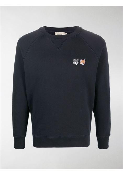 logo sweatshirt man black in cotton MAISON KITSUNÉ | Sweatshirts | FM00358KM0002P195