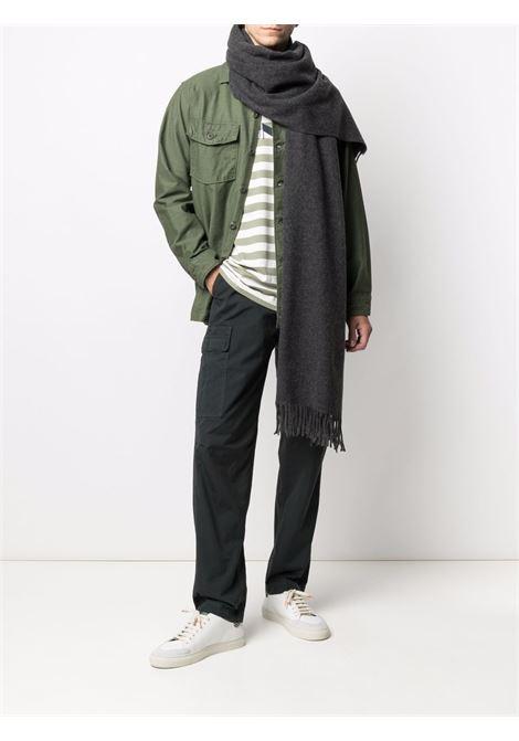 wool scarf unisex gray MAISON KITSUNÉ |  | FU06206BT3004H190