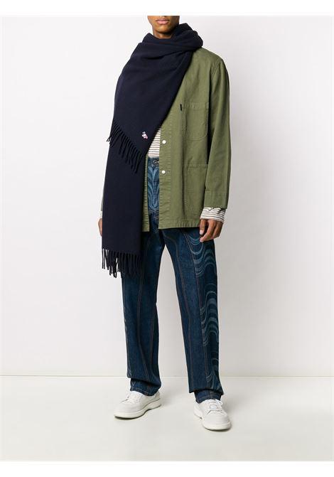 wool scarf unisex blue in wool MAISON KITSUNÉ |  | FU06206BT3004P480