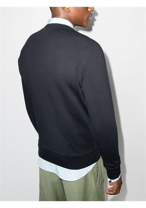logo sweatshirt man black in cotton MAISON KITSUNÉ | Sweatshirts | GM00333KM0002P199