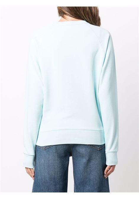 logo sweatshirt unisex light blue in cotton MAISON KITSUNÉ | Sweatshirts | HW00315KM0001P400