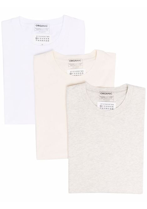 tripack t-shirt man in cotton MAISON MARGIELA | T-shirts | S50GC0652 S23973961