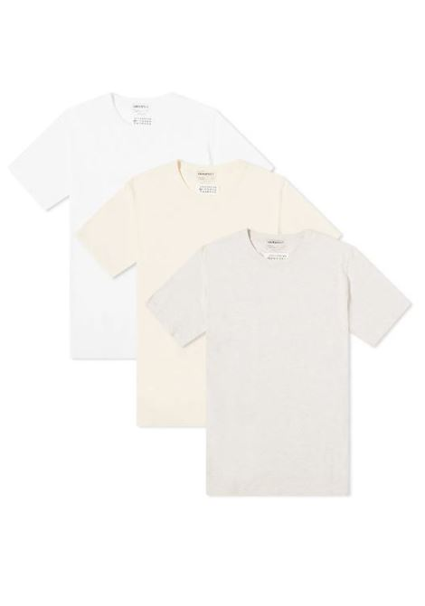 tripack t-shirt uomo in cotone MAISON MARGIELA   T-shirt   S50GC0652 S23973961