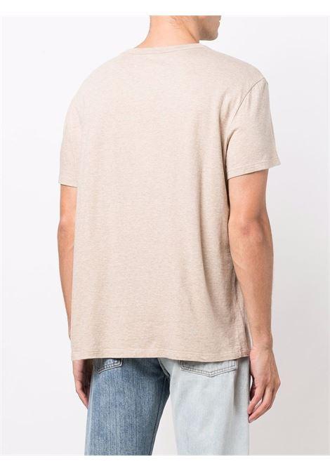 t-shirt con logo uomo beige in cotone MAISON MARGIELA | T-shirt | S50GC0659 S23984114M
