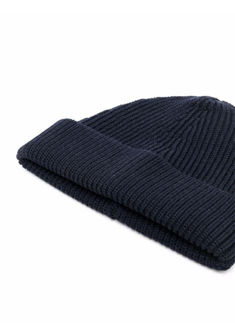ribbed knit hat man navy  MAISON MARGIELA | Hats | S50TC0051 S17791511F