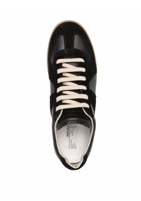 sneakers replica man black leather MAISON MARGIELA | Sneakers | S57WS0236 P1895H6851