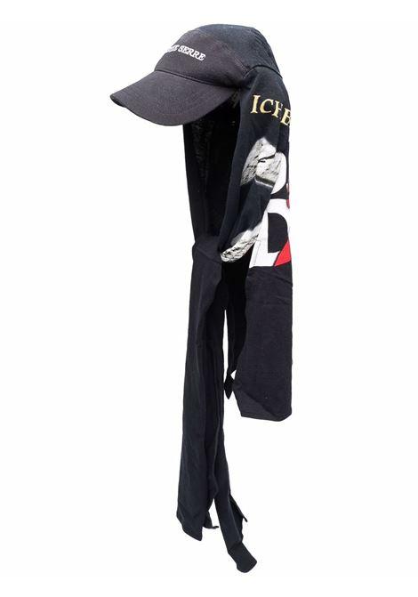 cappello con stampa uomo nero in cotone MARINE SERRE | Cappelli | A005FW21XU00