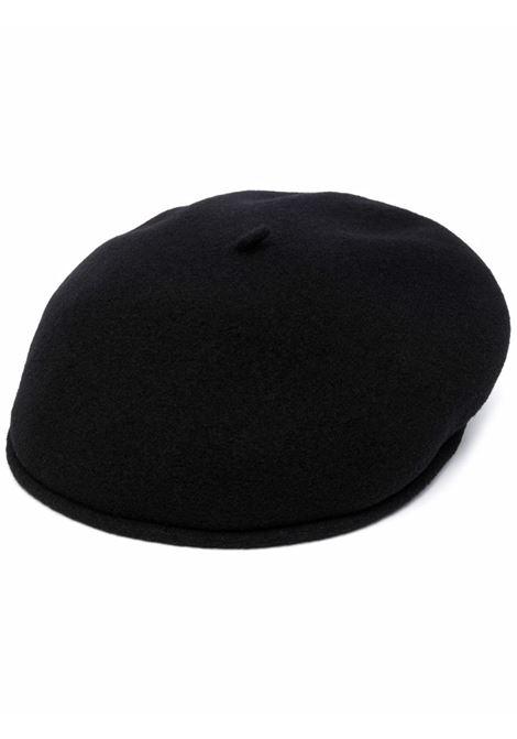 basco con logo uomo nero in lana MARINE SERRE | Cappelli | A057FW21X00