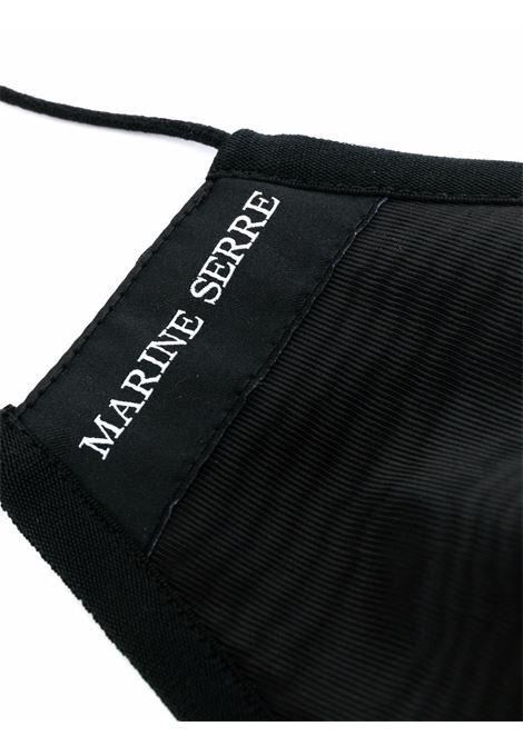 mascherina con monogramma unisex nera MARINE SERRE | Mascherine | A131FW21X WOTPL001100