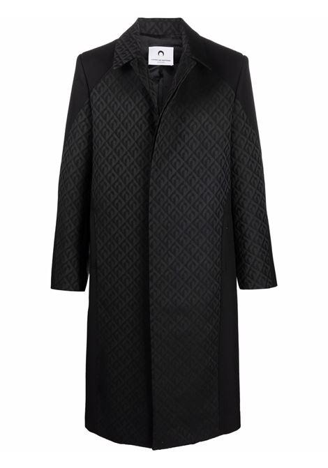 cappotto con motivo jacquard uomo nero MARINE SERRE | Cappotti | C033FW21M00