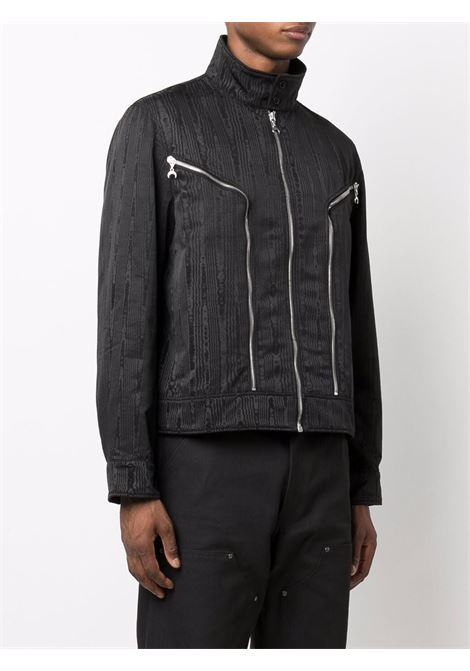 giacca effetto moire uomo nera MARINE SERRE | Giacche | J050FW21M00