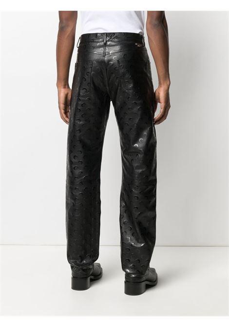 straight trousers man black in nappa MARINE SERRE | Trousers | P021ICONM00