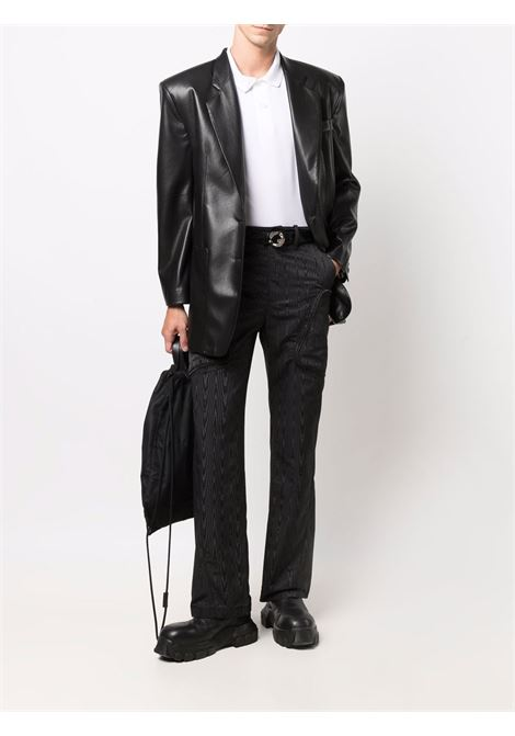 trousers with pockets man black MARINE SERRE   Trousers   P096FW21M00