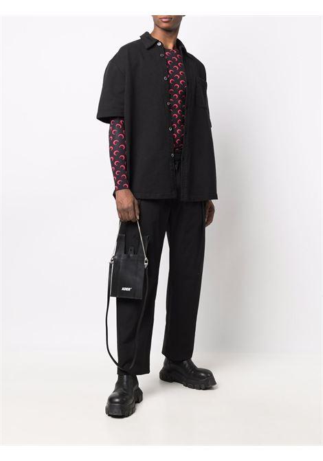 second skin t-shirt man black  MARINE SERRE | T-shirts | T068ICON02