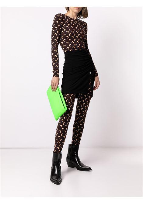 t-shirt a manica lunga donna marrone MARINE SERRE | T-shirt | T068ICONW08
