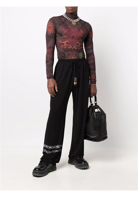 second skin tshirt man brown  MARINE SERRE   T-shirts   T088FW21M08