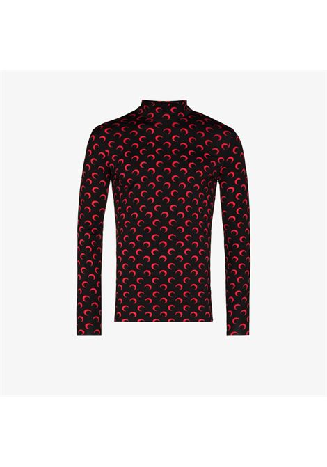 second skin moon top man black MARINE SERRE | T-shirts | T088ICONM02