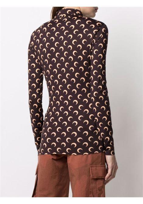 printed t-shirt woman brown MARINE SERRE | T-shirts | T088ICONM08