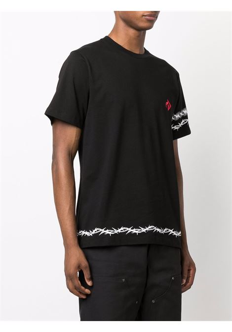 logo t-shirt man black in cotton MARINE SERRE | T-shirts | T129FW21M00