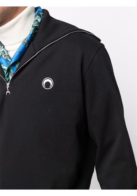 maglione moon gloves uomo nero in cotone bio MARINE SERRE | Maglieria | T134FW21M00