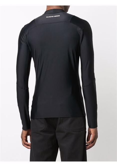 t-shirt sportiva a maniche lunghe uomo nera MARINE SERRE | T-shirt | T232FW21M00