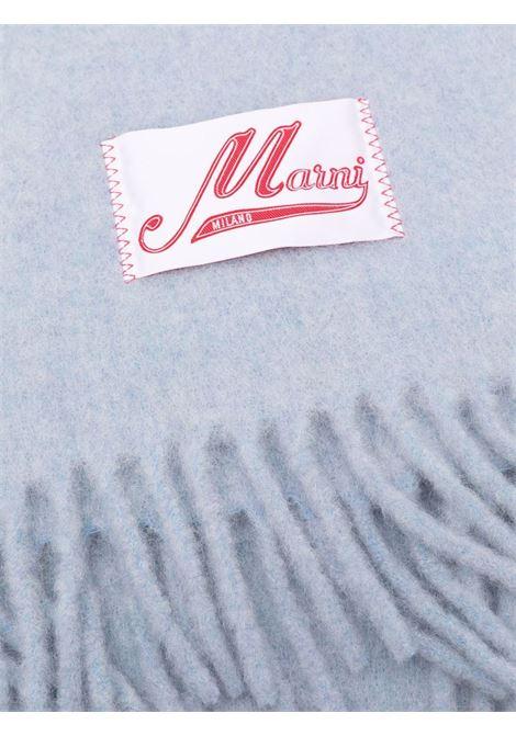 sciarpa con logo unisex azzurra MARNI | Sciarpe | ASZC0005A0UTW91800B50