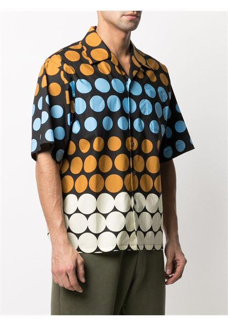 polka dot shirt man multicolor in cotton MARNI | Shirts | CUMU0213A0 UTC044PON99