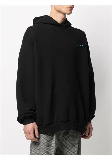 logo hoodie man black in cotton MARNI | Sweatshirts | FUMU0067P0 UTC02200N99