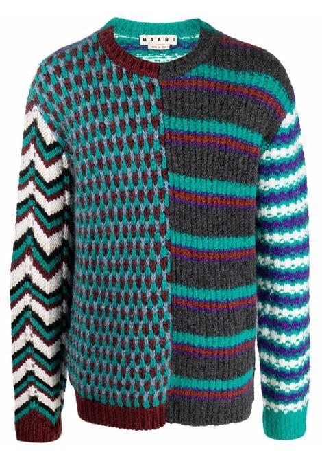 maglione a girocollo uomo multicolor MARNI | Maglieria | GCMG0220Q0 UFW030MXV63