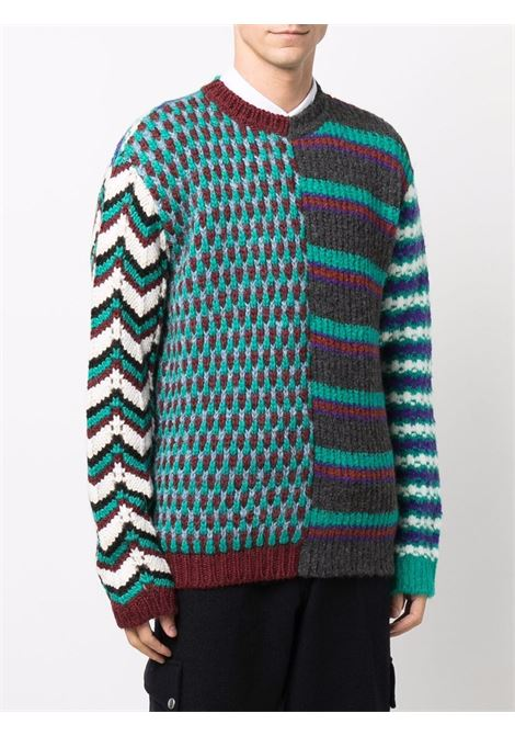 crew neck sweater man multicolor  MARNI   Sweaters   GCMG0220Q0 UFW030MXV63