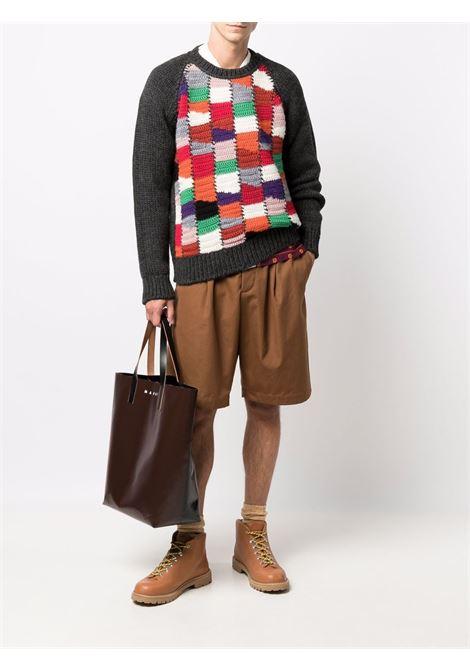 maglione a girocollo uomo multicolore in lana MARNI | Maglieria | GCMG0225Q0 UFH929MXX99
