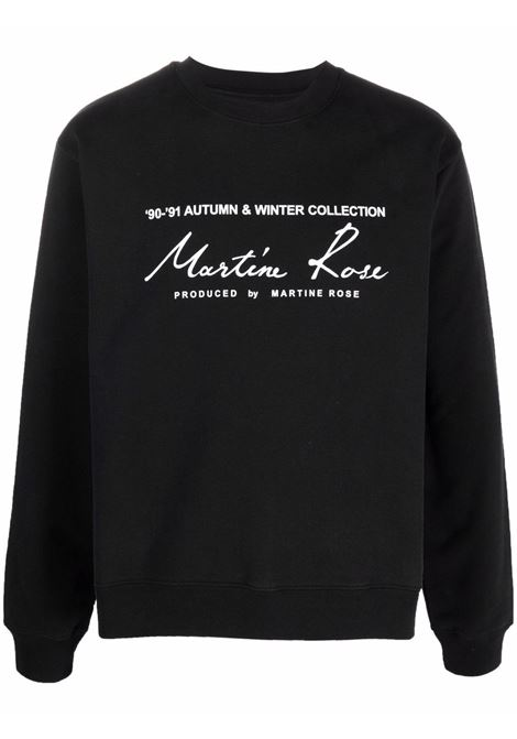 felpa con logo uomo nera in cotone MARTINE ROSE | Felpe | M601FEMR009