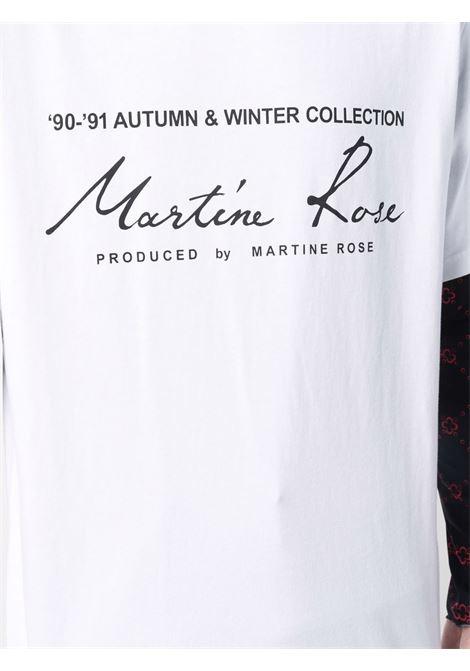 logo t-shirt man white in cotton MARTINE ROSE | T-shirts | M603JCMR001