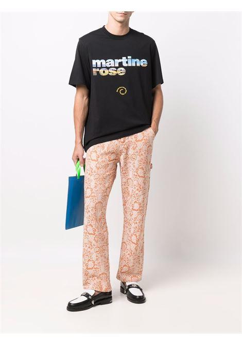 t-shirt with print man black in cotton MARTINE ROSE | T-shirts | M603JGMR009