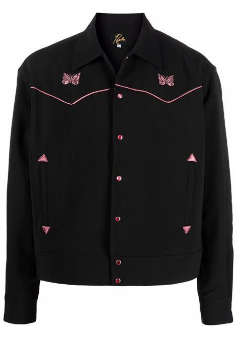 piping cowboy jacket man black in polyester NEEDLES | Jackets | JO169BLACK C