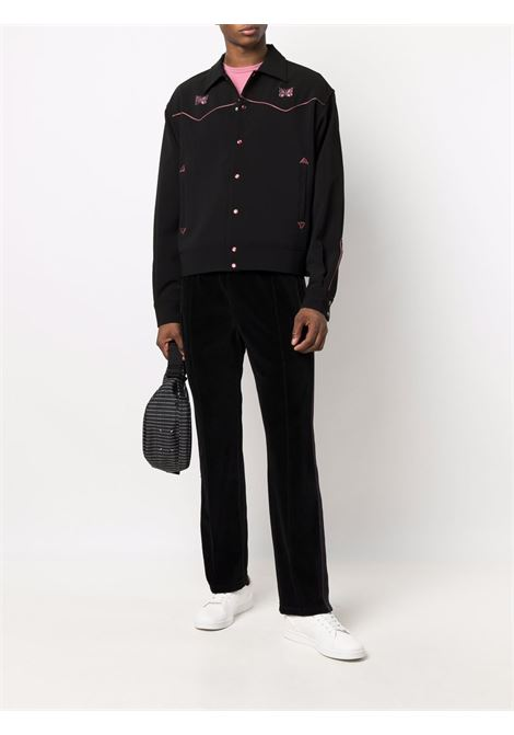 piping cowboy jacket man black in poliestere NEEDLES | Giacche | JO169BLACK C