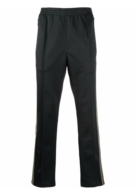 sports pant man green in polyester NEEDLES | Trousers | JO223DARK GREEN A
