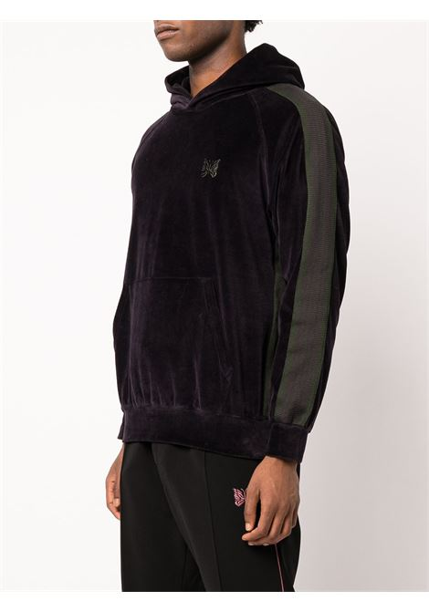 track hoodie man purple in cotton NEEDLES | Sweatshirts | JO228EGGPLANT A