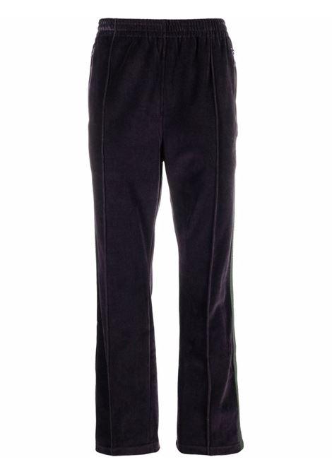joggers man purple in cotton NEEDLES | Trousers | JO229EGGPLANT A
