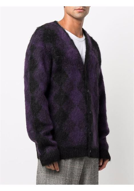 cardigan mohair man purple and black NEEDLES | Sweaters | JO257CHARCOAL