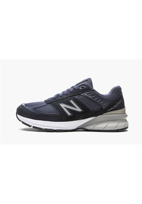 990 sneakers man blue in leather NEW BALANCE | Sneakers | NBM990NV5