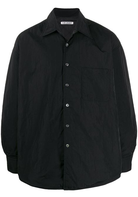 giacca leggera uomo nera in poliammide OUR LEGACY | Giacche | M4192TPBLACK