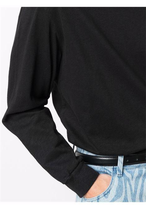 t-shirt collo alto uomo nera in cotone OUR LEGACY | T-shirt | M4216BBHBLACK