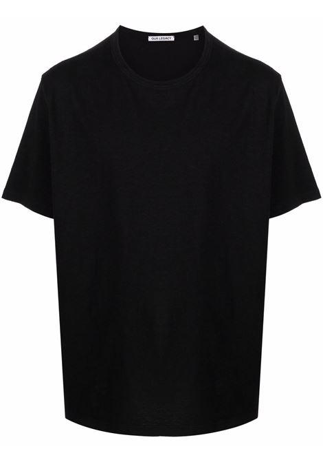 new box t-shirt man black in cotton OUR LEGACY | T-shirts | M4216NBBLACK