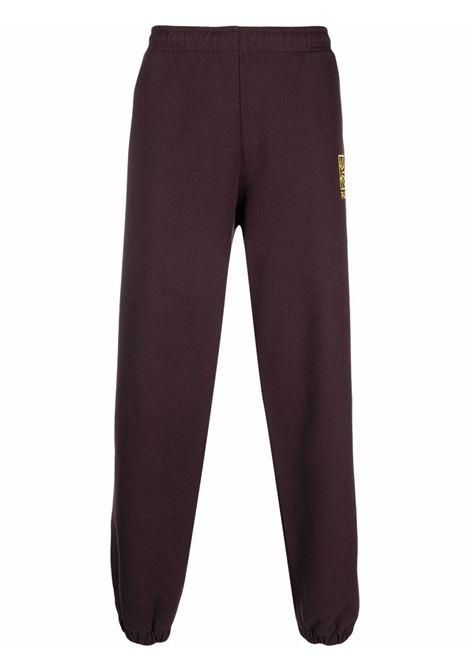 logo sweatpants man maroon in cotton RASSVET | Trousers | PACC9P0031