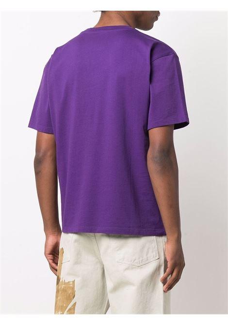logo t-shirt man purple in cotton RASSVET   T-shirts   PACC9T0052